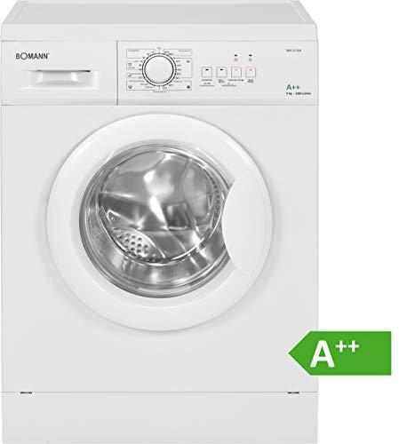 Bomann WA 5728 Waschmaschine Frontlader/EEK A++/6 kg/10 Programme+Zusatzoptionen/1000 UpM/Schaumregulierung