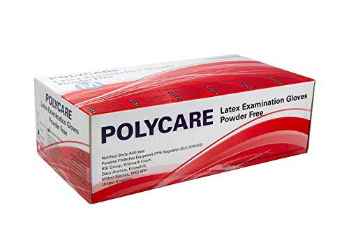 100 Stück Latexhandschuhe in Spender-Box – puderfrei, nicht steril – Einweghandschuhe Einmalhandschuhe (S)