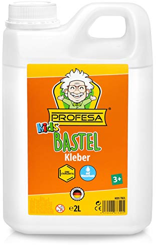 PROFESA - Kinder Bastelkleber für Slime - transparent, flüssig, 2 Liter