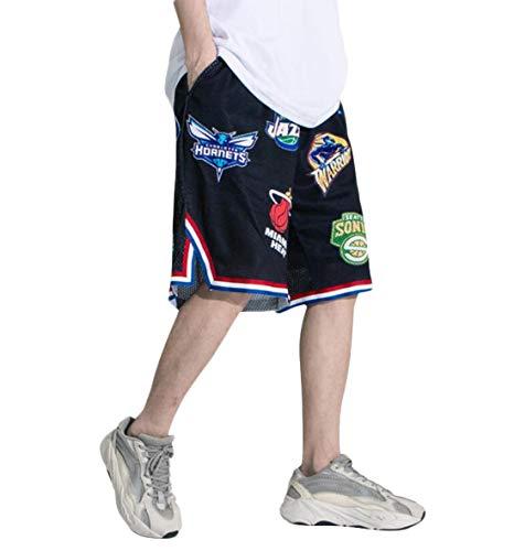 Hombres Transpirable en Malla Pantalones Cortos de Baloncesto, Camiseta Deportiva Verano Moda Callejera para Adolescentes, Shorts Secado Rápido para Correr Trotar - Diseño Original