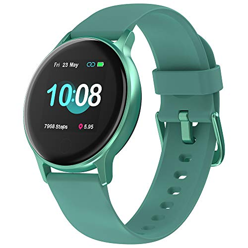Smartwatch Uomo, UMIDIGI Uwatch 2S Orologio Fitness Tracker Uomo Donna Orologio, Impermeabile 5ATM, Cardiofrequenzimetro da Polso Contapassi Sportivo Activity Tracker per Android iOS - Verde Oceano