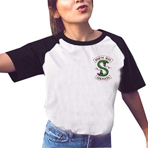 Riverdale Camisetas de Impresión Manga Corta Mujer Remeras Top Cuello Redondo Fashion...