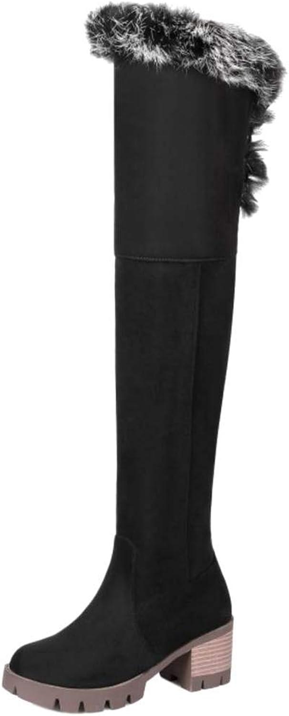 Unm Women's High Heel Over Knee Boots Zipper