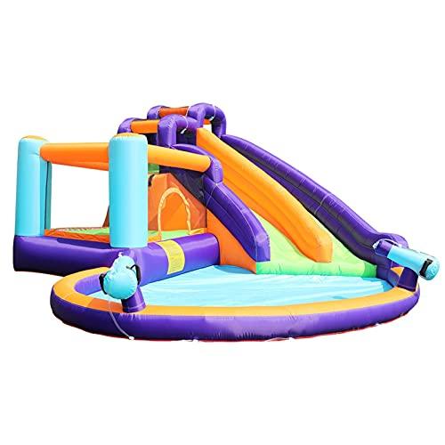 XMEIFEI PARTS Castillo de Jersey de Bobo Inflable de Doble Agua para niños Que saltan la casa Hinchable con el soplador de 750W by