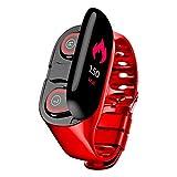 BITUBITU M1 AI Smart Watch Wristband Bluetooth Earphone Two in One Sports Bracelet Fitness Tracker Heart Rate Monitor