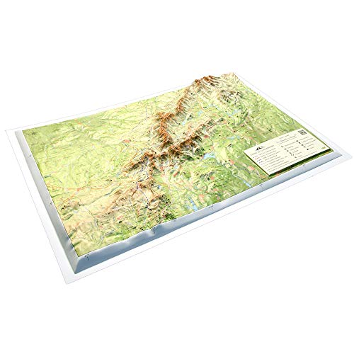 Mapa en relieve Sierra de Guadarrama: Escala 1:250.000