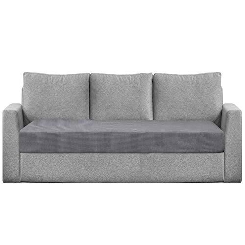 Granbest Funda de cojín de asiento hidrófugo para sofá, funda de asiento de sofá extensible en tejido jacquard (3 plazas), color gris claro