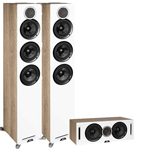 Buy Discount ELAC Debut Reference 3.0 Channel Home Theater System Bundle with DFR52 Floorstanding Sp...
