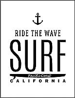【FOX REPUBLIC】【サーフィン カリフォルニア ロゴ】 白光沢紙(フレーム無し)A3サイズ