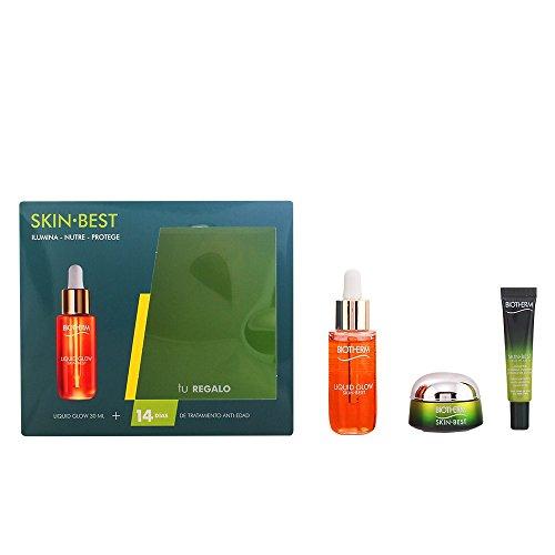 Biotherm Skin Best Liquid Glow Fluido Iluminador + Gel Exfoliante + Crema Hidratante de Día - 1 Pack