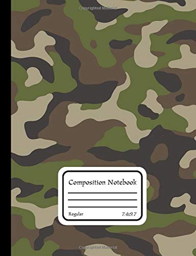 Regular Composition Notebook: Camouflage Clothing Military C