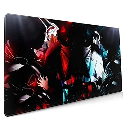 THWTHGTR Anime Bleach Mouse Pad XXL Gaming Mouse Pad Non-Slip Rubber Base Mousepads Desk Accessories Keyboard Mat Large (35.4x15.7inches / 90x40cm) for Work Games Office Writing Desk
