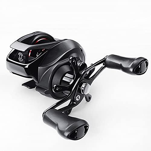 HZPXSB Un Carrete de Casting 7.2: 1 12 + 1BB Gear Ratio carretes de Pesca magnética Sistema de Frenos de Agua Salada Bastidor de Cebo de Pesca del Carrete (Color : Left (Deep))