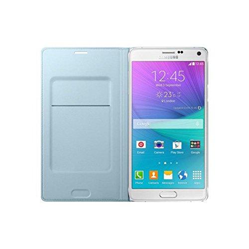 Samsung Flip Wallet Case Cover Schutzhülle in Stepp-Optik mit Kartenfach für Samsung Galaxy Note 4 - Mint
