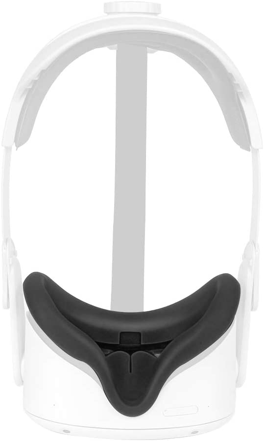 HIJIAO Silicone Face Cover for Oculus Quest 2 (Black)