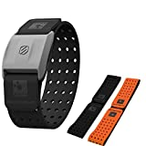 Scosche Rhythm+ Heart Rate Monitor Armband- Optical Heart Rate Armband Monitor with Dual Band Radio ANT+ and Bluetooth Smart - Bonus Pack includes...