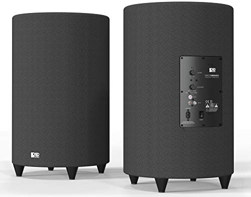 OSD Audio 400W Ported Cylinder Cabinetry Home Theater Subwoofer, Nero Tubebass-10