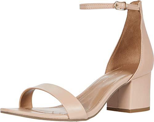 Rohb by Joyce Azria Calypso Mid Heel Ankle Strap Sandal (Nude Pu) Size 8.5