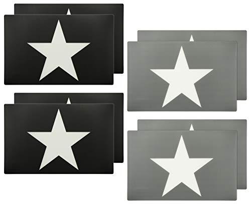 COM-FOUR® 8 piezas Mantel individual de