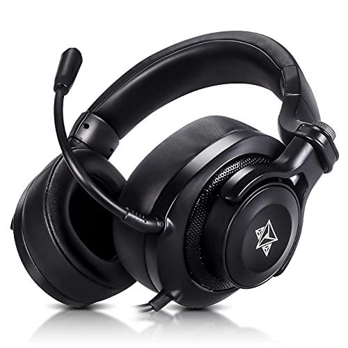 Headset gamer fone de ouvido com microfone Adamantiun Heimdall V1 pc ps4 ps5 celular Xbox One series nintendo switch notebook p2 3,5mm botão mute volume