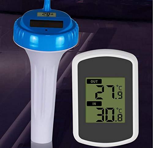 ZUZU Funkkanal für Umgebungswetter Schwimmendes Pool- und Spa-Thermometer Solarbetriebenes digitales Pool-Thermometer