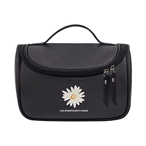 HJF All-Match Small Daisy Lave Wash Bag Solid Color Impresión Fashion Cosmetic Bag D