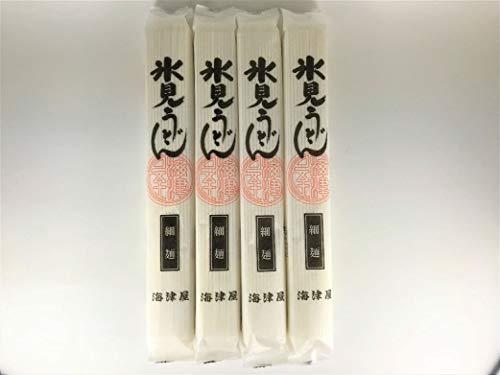 海津屋 氷見うどん 4個セット(乾麺 細麺)