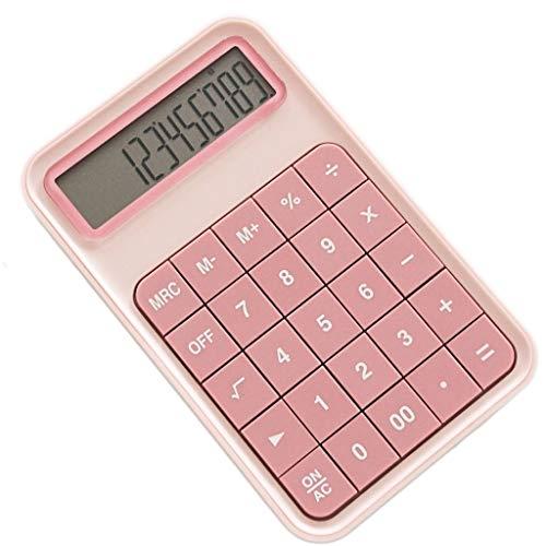 Calculadora GCX 170 * 18 mm Color de Rosa Verde multifunción 110 de Pantalla Grande Grande del botón for Oficina Especial for la Gestión financiera Estudiante Durable (Color : Pink)
