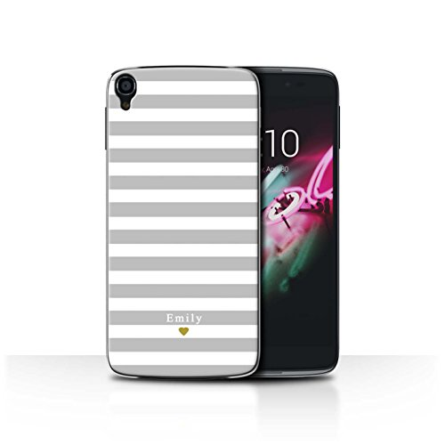Stuff4Phone Case/Cover/Skin/alcidl355/Custom Stripes/Striped Collection Coeur Argent/Gris