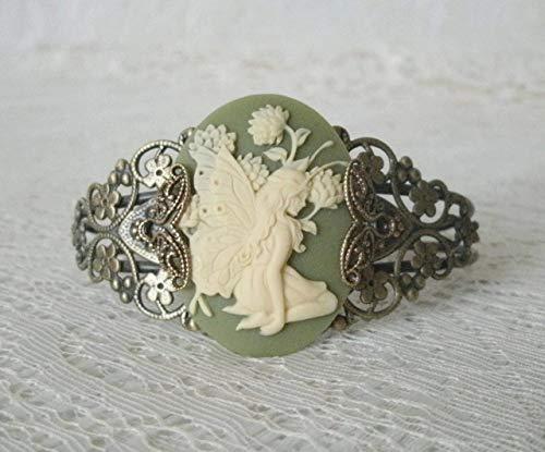 Fairy Cuff Bracelet, handmade jewelry victorian edwardian renaissance art nouveau art deco celtic fantasy elven