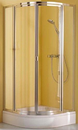 Breuer Fara 4 Runddusche mit drehtür 90cm Höhe: 185cm, b0714.90