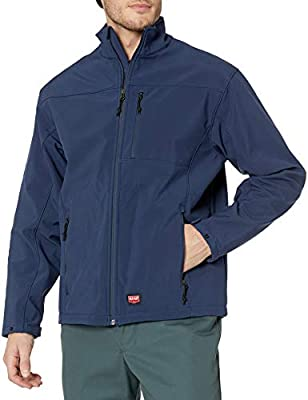 Red Kap Men's Deluxe Soft Shell Jacket, Navy, 2X-Large by Red Kap Men's Apparel