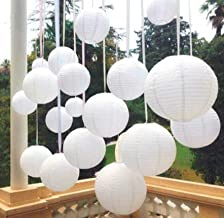 Pop the Party Paper Lamp Lantern Shade for Decoration Hotels Home Diwali Light (12 Inch; White) 10 Pieces