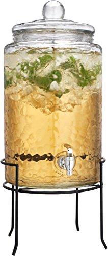 Classic Beverage Drink Dispenser Hammerd Durable Glass on Stand 3 Gallon with Spigot