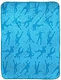 Jay Franco Fortnite Emotes Blue Travel Blanket - Measures 40 x 50 inches, Kids Bedding - Fade Resistant Super Soft Plush Fleece - (Official Fortnite Product)