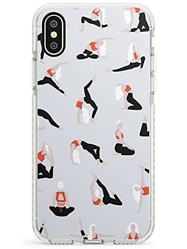Las Posturas De Yoga Caja del teléfono de Impacto para iPhone XR | Protector Doble Capa Parachoque TPU silikon Cubrir Patrón Impreso | Yoga Atlético Activo Patrón Mujer