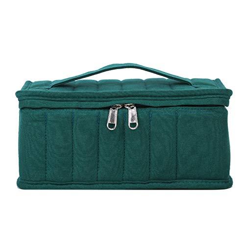Caja de aceite esencial, bolsa portátil de almacenamiento de aceite esencial con gran capacidad 38+1 celdas, organizador de esmalte de labios con cremallera para cosméticos Gel de uñas