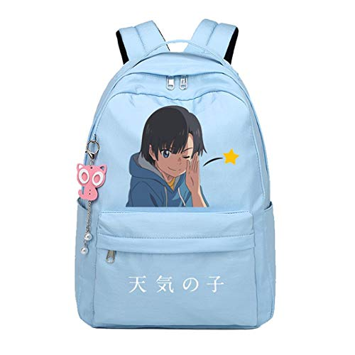 Anime Weathering with You Tenki no Ko Rucksack Cosplay Bookbag Daypack Laptop Tasche Schultasche