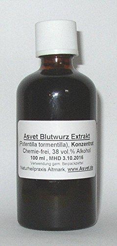 Asvet 50ml Blutwurz Extrakt, Ruhrwurz Tropfen, Tinktur, Konzentrat, (GP = EUR 35,80/100ml)