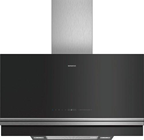 Siemens iQ700 lc97fvw60 Wall-Mounted Cooker Hood 730 m3/h A zwart, roestvrij staal – afzuigkap (730 m3/h, afvoerlucht/circulatielucht, A, B, 57 dB)