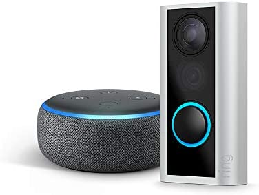 Best Ring Peephole Cam with Echo Dot (3rd Gen) - Charcoal
