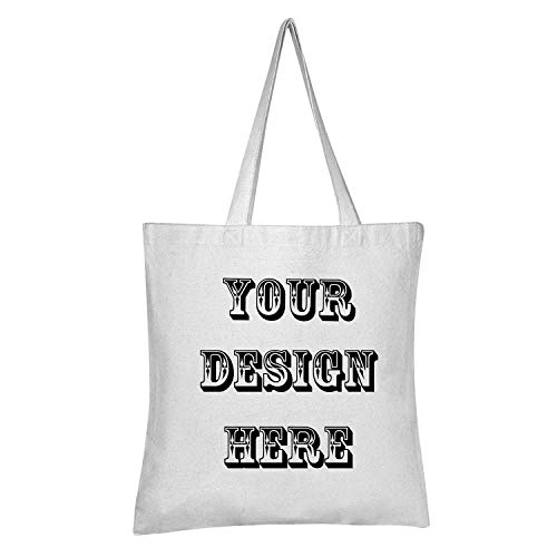 Personalized Canvas Tote Bag – LINARTS Add Picture Logo or Text and Make Your Own Reusable Customized Tote Bag