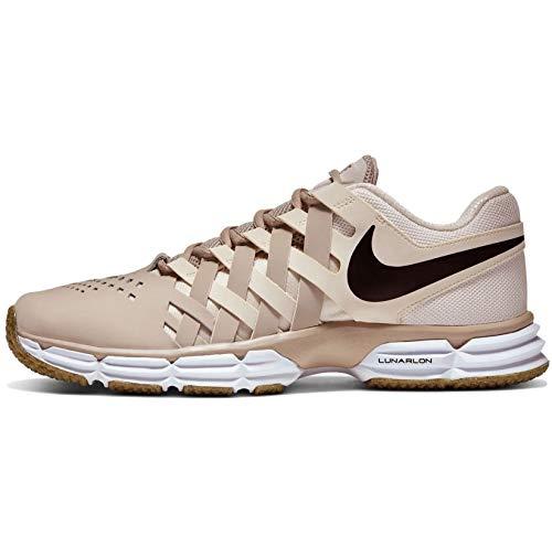 Nike Lunar Fingertrap Tênis masculino, String/Dark Smoke Grey-pale Ivory-white-gum Light Brown, 10.5