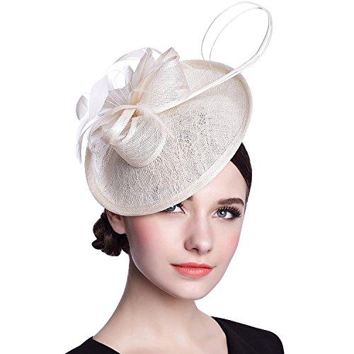 Deevoov Sinamay Fascinator Gelegenheits-Hochzeits-Hüte Partei-Derby-Cocktailhut für Frauen