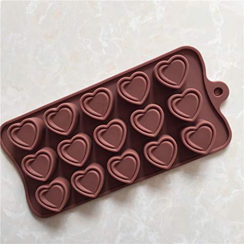NTBAY Geschenk 15 Doppeldeck-Liebesschokoladen Modell DIY Einfaches Dekorieren Backwerkzeuge für Kuchen