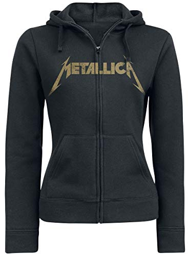 Metallica Hetfield Iron Cross Guitar Kapuzenjacke schwarz XL