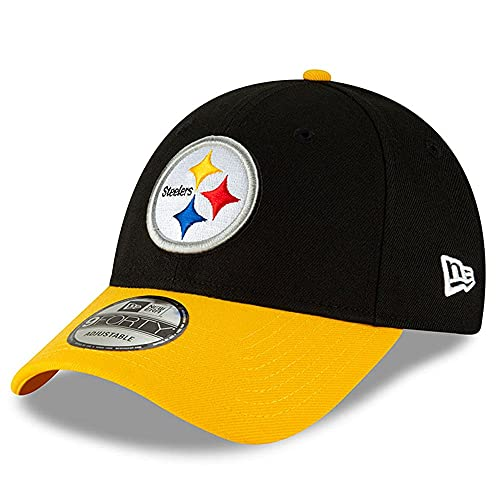 New Era Men's Black/Gold Pittsburgh Steelers The League Two-Tone 9FORTY Adjustable Hat
