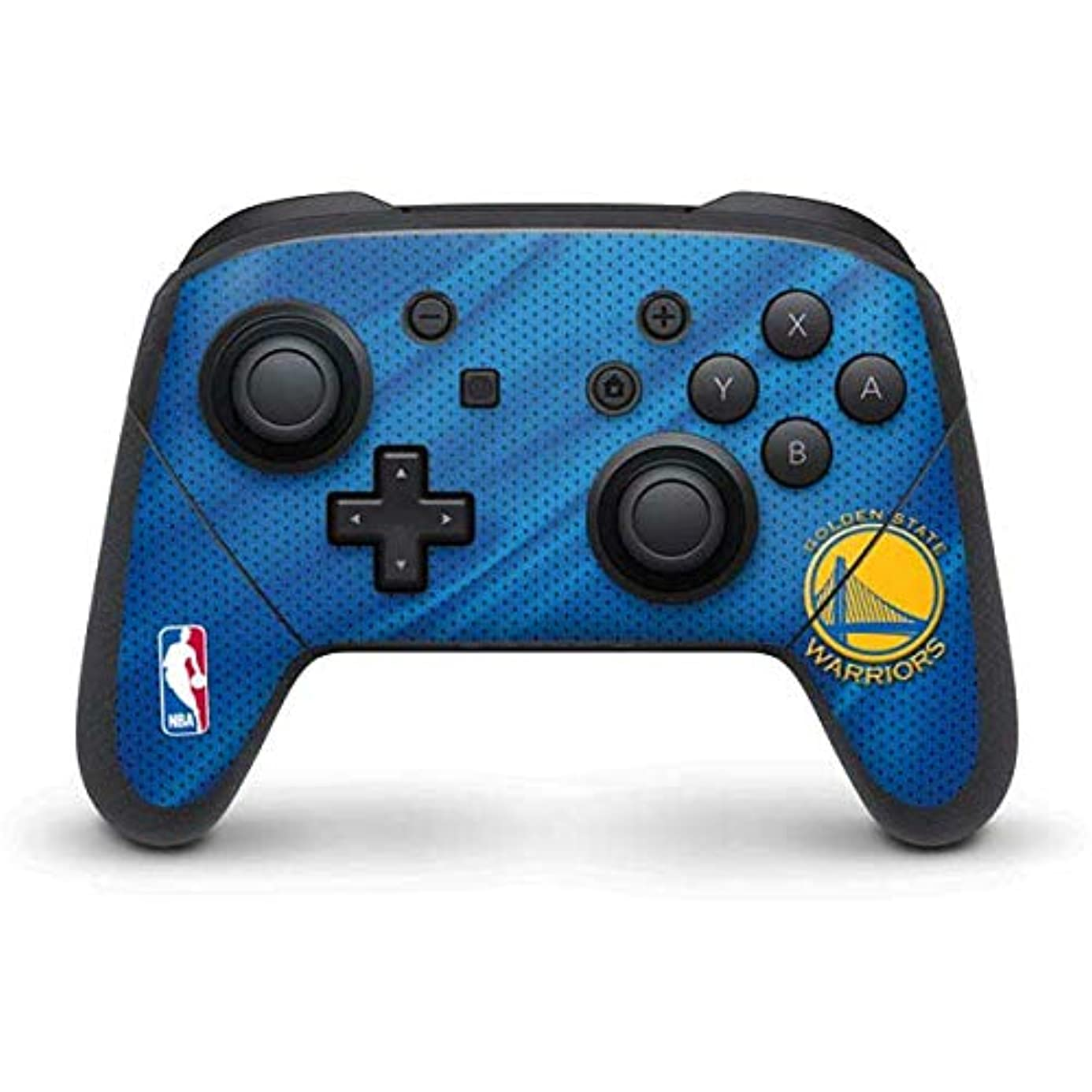 Skinit Golden State Warriors Jersey Nintendo Switch Pro Controller Skin - Officially Licensed NBA Gaming Decal - Ultra Thin, Lightweight Vinyl Decal Protection