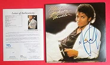 Michael Jackson Autographed Signed Memorabilia Thriller Album Certified Authentic With JSA Letter Loa