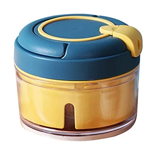 XIAOQI Picadora de alimentos picadora de ajo, trituradora de amoladora mini manual, inalámbrica, portátil, potente multifuncional, accesorios de cocina para carne, frutas y verduras